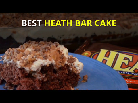 BEST HEATH BAR CAKE USING CHOCOLATE CAKE MIX