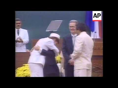 PANAMA: NEW PRESIDENT MIREYA MOSCOSO SWORN IN
