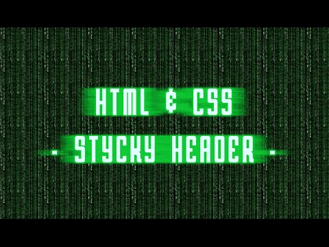 HTML & CSS - Sticky Header - Fissare Il Menu Al Top Della Pagina