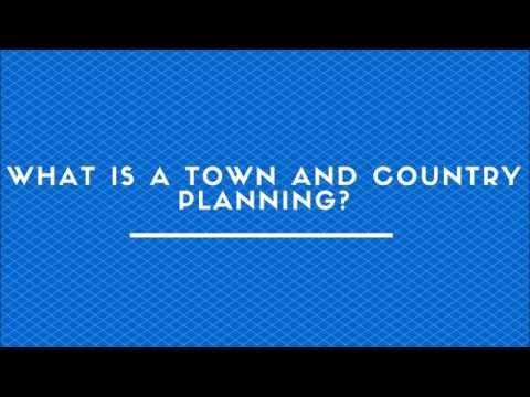 What Is A Town And Country Planning?