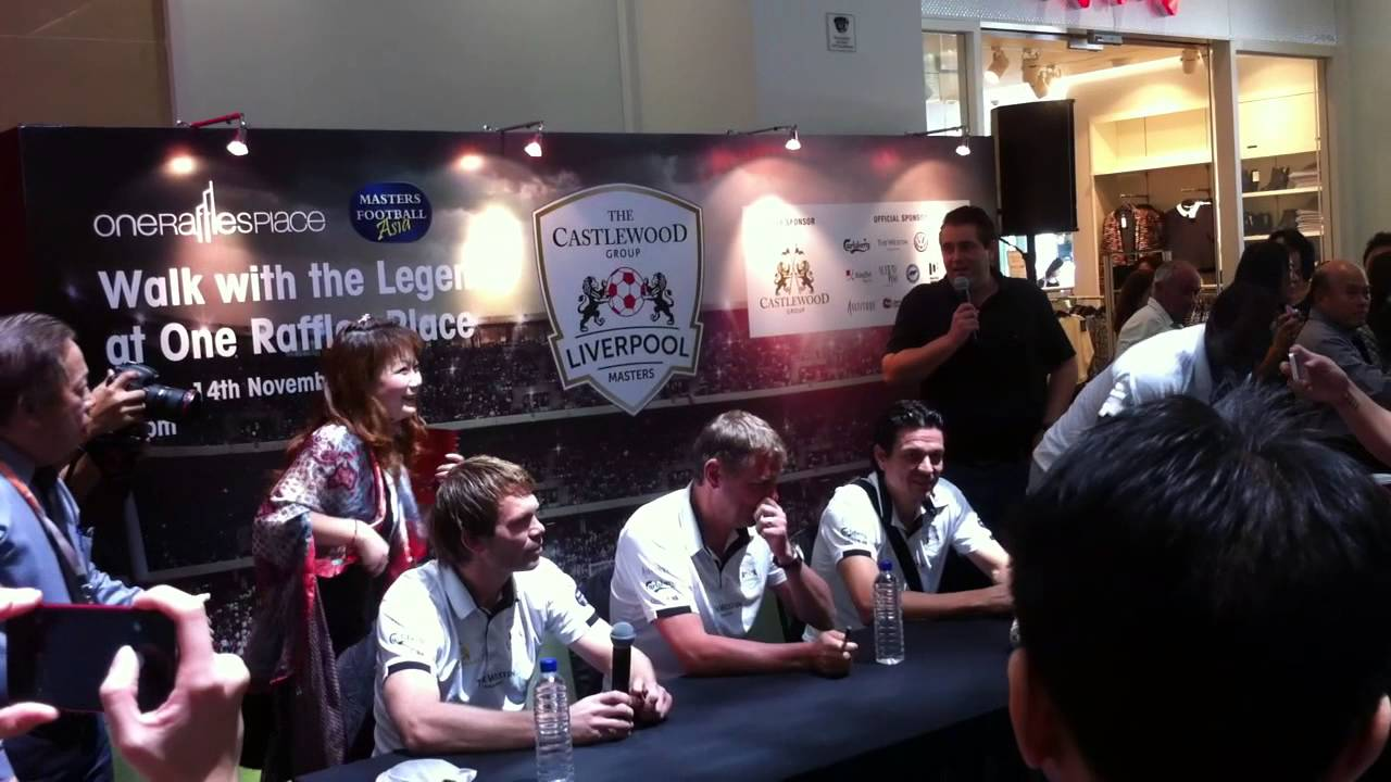 Liverpool Legends Meet And Greet At One Raffle Shopping Mall Youtube