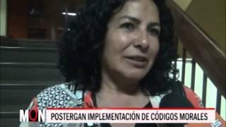 03-08-2015/19:48/POSTERGAN IMPLEMENTACIÓN DE CÓDIGOS MORALES