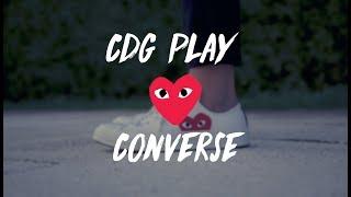 cdg play x converse