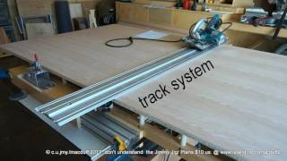 trak saw cutting table
