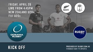 2017 Oceania Rugby Round 1 U20s Championship New Zealand vs Fiji