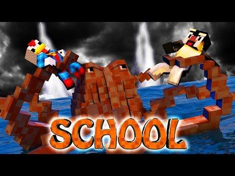 Minecraft School | Military School of Mods - Kraken Attacks School Mod! (Kraken Eats Kids)