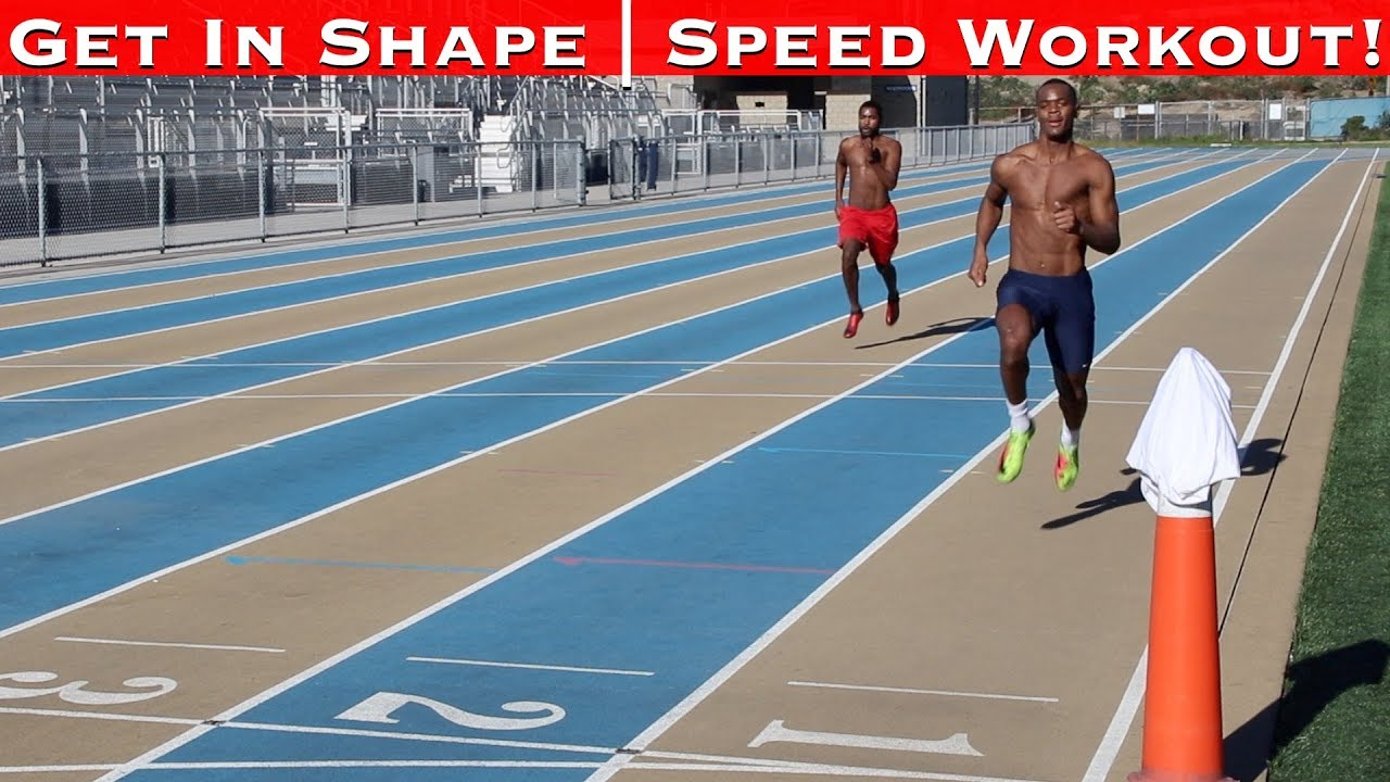 How to Get in Shape Fast! 100M Dash Speed Track Workout!