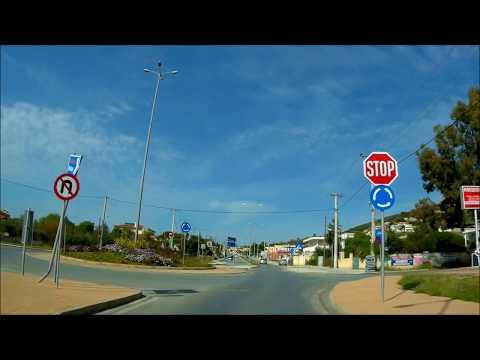 DRIVING Varkiza Βάρκιζα Attica to Kalyvia Thorikou greece road  יוון  אטיקה הדרך כביש 91