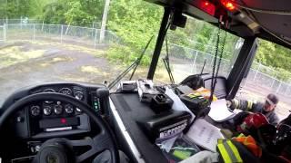 Driving a Fire Engine POV