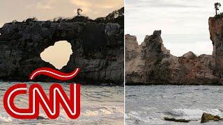 Sismo en Puerto Rico: Punta Ventana se derrumba