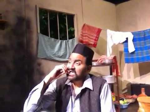 SAKHARAM BINDER monologue on the set Hindi play by Vijay