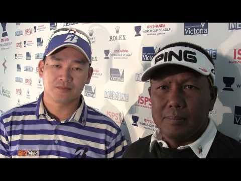 ISPS HANDA World Cup of Golf - Interview with Angelo Que and Tony Lascuna.