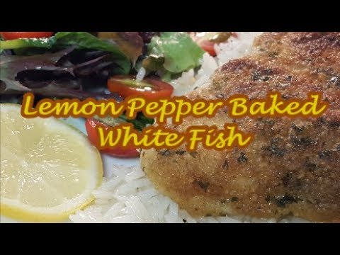 LEMON PEPPER BAKED WHITE FISH  (WITH ALASKAN POLLOCK) |  RICHARD IN THE KITCHEN