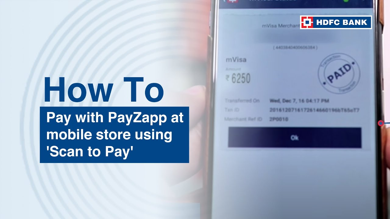 How to Pay with PayZapp at mobile store using 'Scan to Pay'