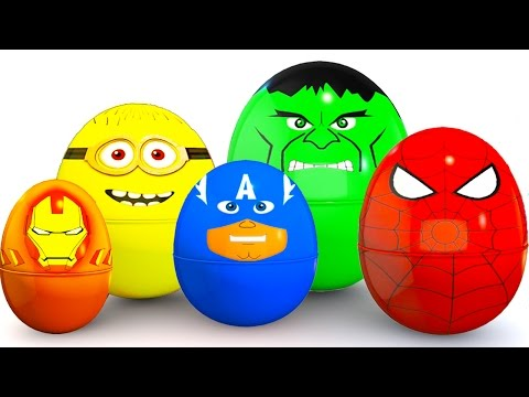 Thumbnail: SURPRISE EGGS Colors for Babies - McQueen Cars Educational Video - Bus Superheroes for Kids