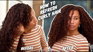 My current curly refresh routine! - Frizz free, defined, voluminous day 2, 3, 4, 5 curls
