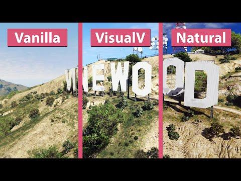 GTA 5 – Vanilla vs  VisualV vs  NaturalVision Photorealistic