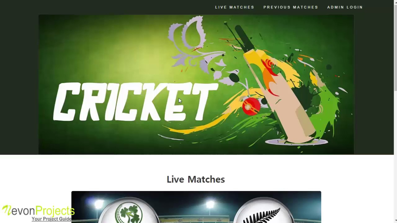 Live Cricket Score Website Project