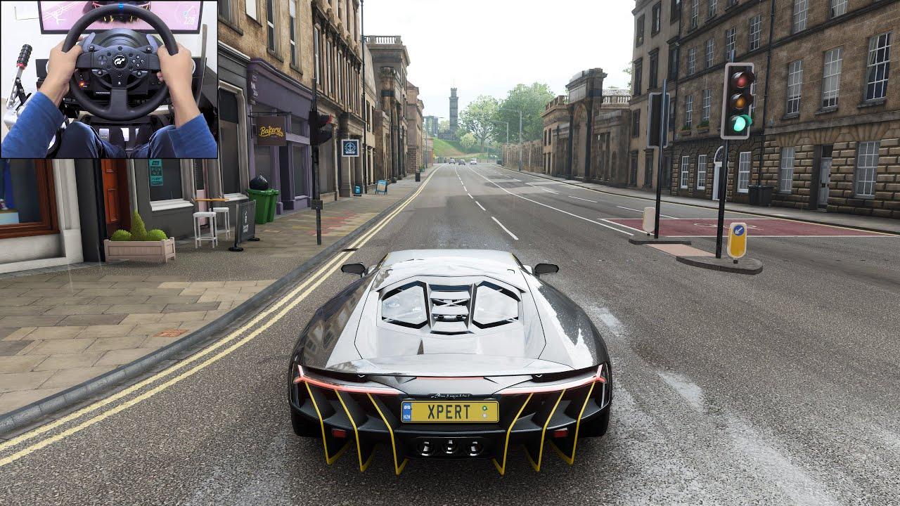 Lamborghini Centenario - Forza Horizon 4 | Thrustmaster T300RS gameplay
