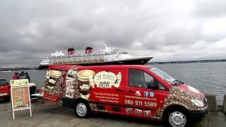 Disney Magic leaving Dublin Port 26th May.2016
