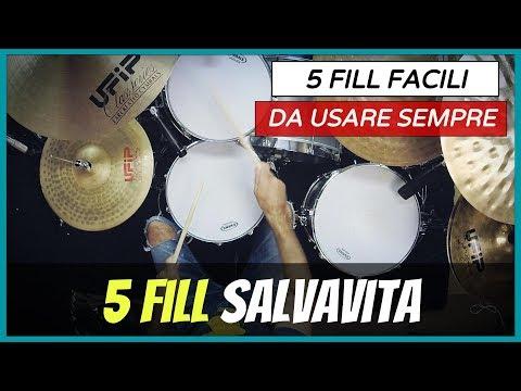 5 Fill Salvavita...Facilissimi #273  (Imparare a Suonare La Batteria)