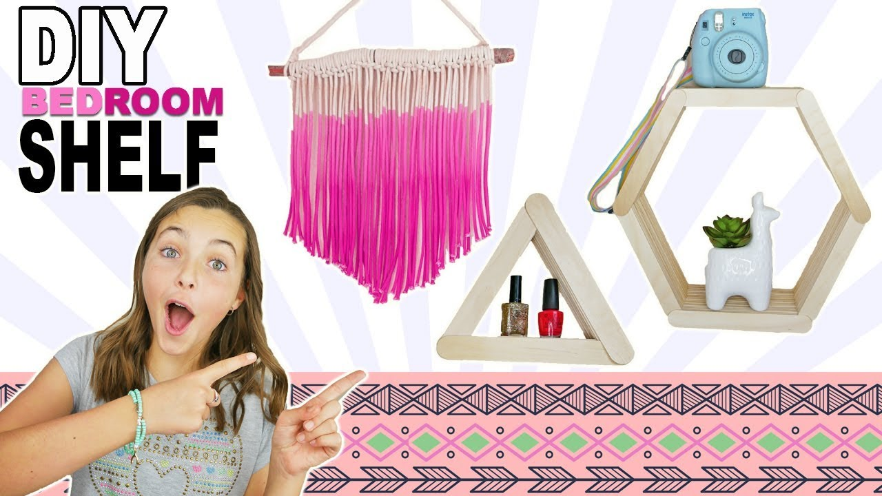 Diy Bedroom Shelf Easy Room Decor Ideas For Teens Youtube