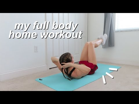FULL BODY HOME WORKOUT FOR SMALL SPACES (no equipment, all levels!)