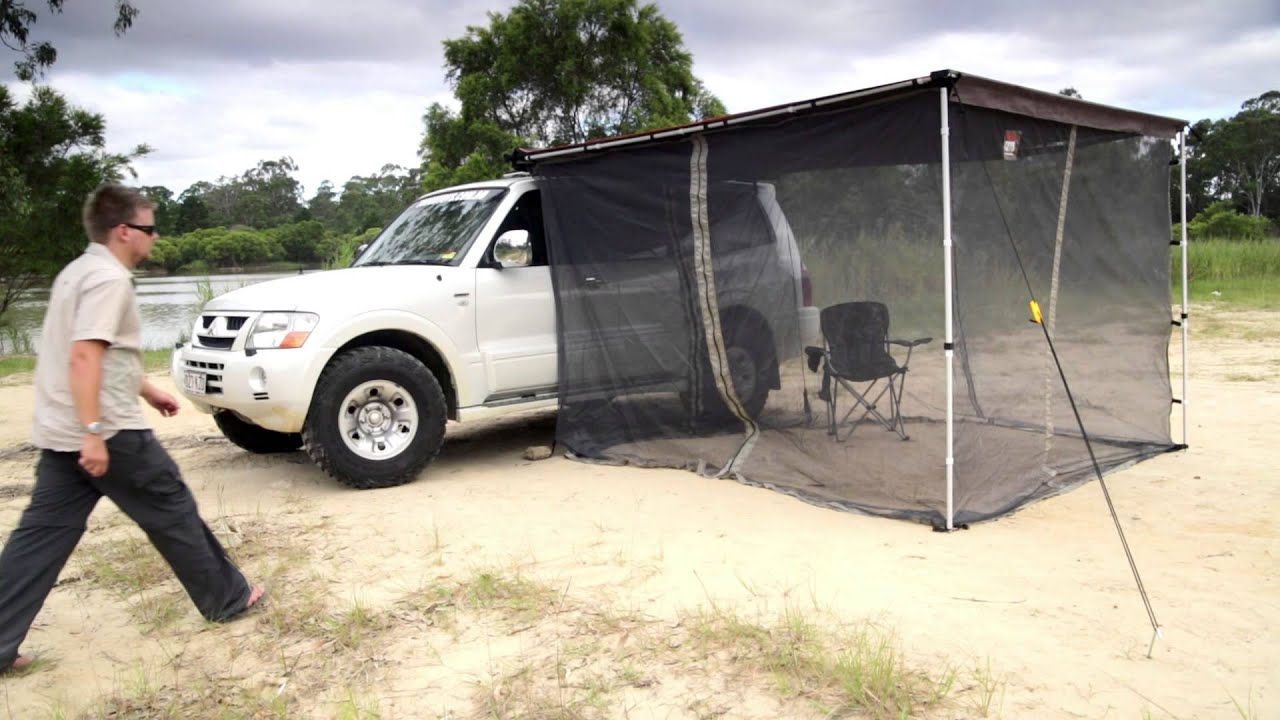 Tough Toys Led Awning Mozzie Mosquito Net 2 5x3m Youtube