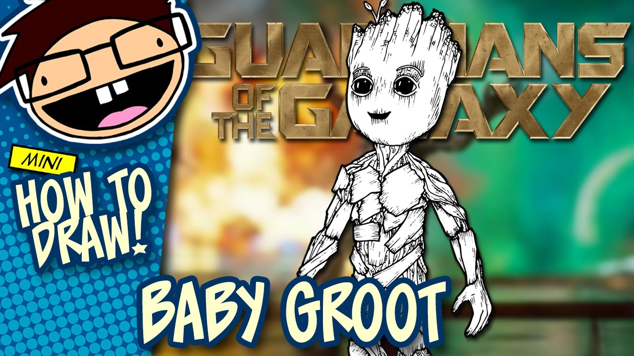 How To Draw Baby Groot Guardians Of The Galaxy Vol 2 Narrated