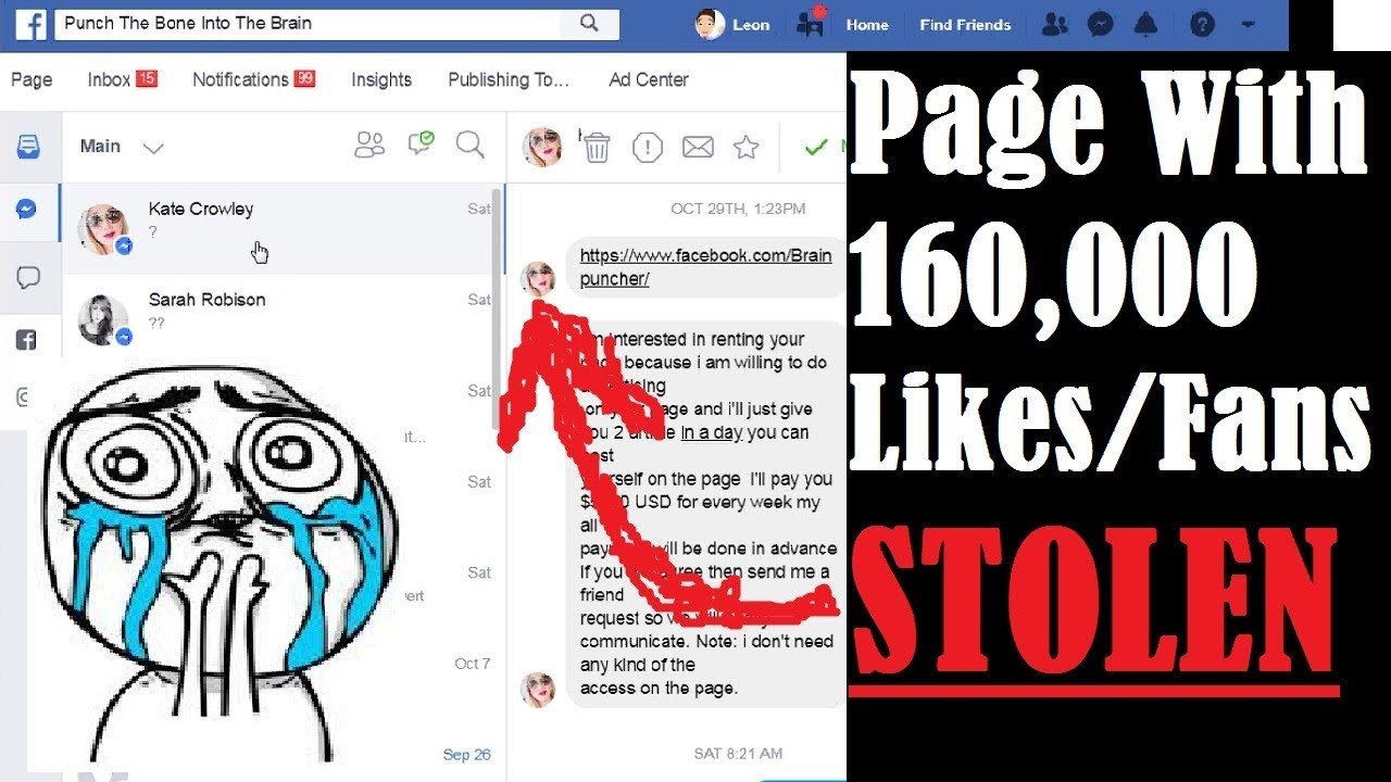 Stolen 160K Facebook Page Rental Scam + FB Business Manager + Instant Articles Scam