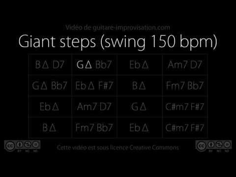 Giant steps : Backing Track (swing 150 bpm)
