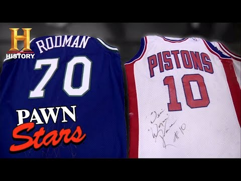the best attitude 2ee84 f5cd3 Pawn Stars: Dennis Rodman Signed Jerseys | History