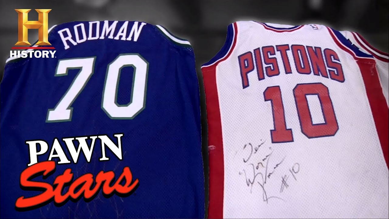 the best attitude 6f63a 361bf Pawn Stars: Dennis Rodman Signed Jerseys | History