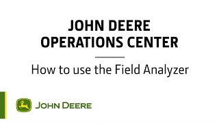 Operations Center  How to use the Field Analyzer