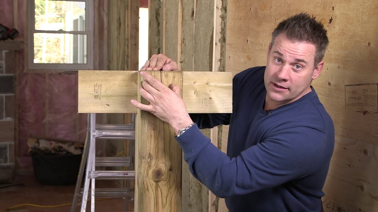 How To Attach A Beam To A Post For A Deck Youtube