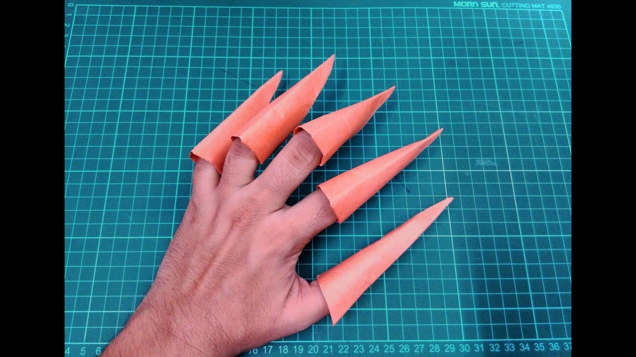 How To Make Origami Paper Claws Origami Paper Folding Craft