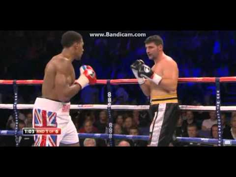 Anthony Joshua 1st Round KO On Pro Debut (1st Fight) - YouTube