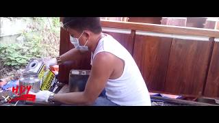 (Varnish Pinoy) How to stained and varnish  Hardwood cabinet using lacquer type of varnish