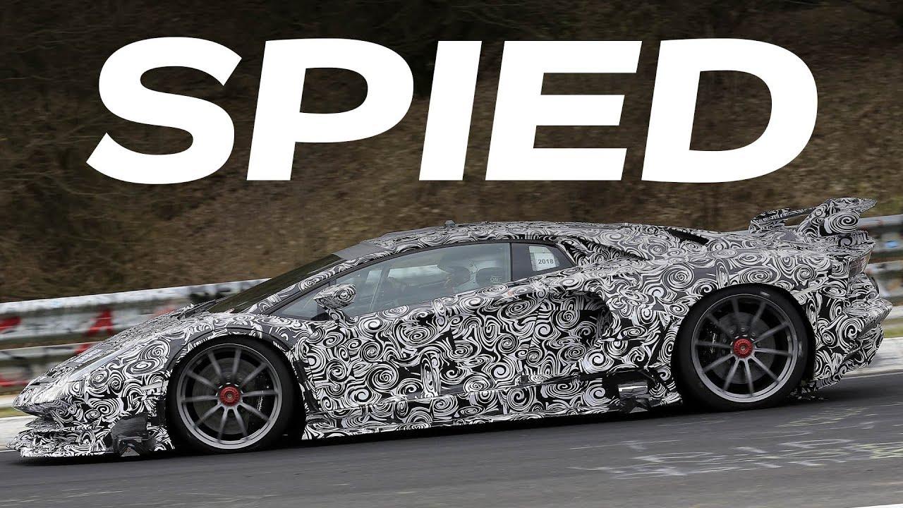 2018 Lamborghini Aventador Svj Spy Video