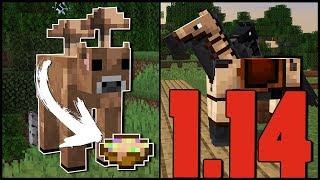 Minecraft - 1.14 - Barna Mooshroom, Lópáncél bőrből! - Snapshot 19w08a