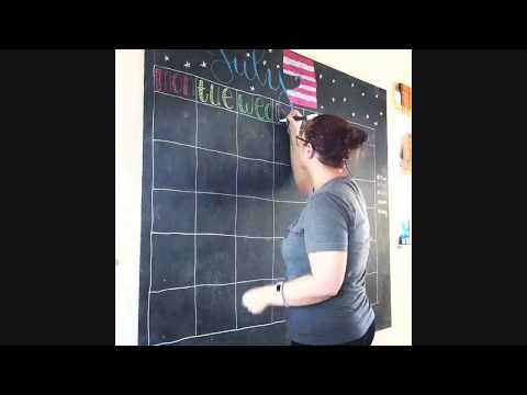 chalkboard,-blackboard-family-wall-calendar-family-organization-step-2
