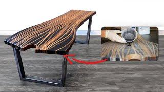Epoxy Steam Bent Coffee Table | 47 | #RocklerBentWoodChallenge