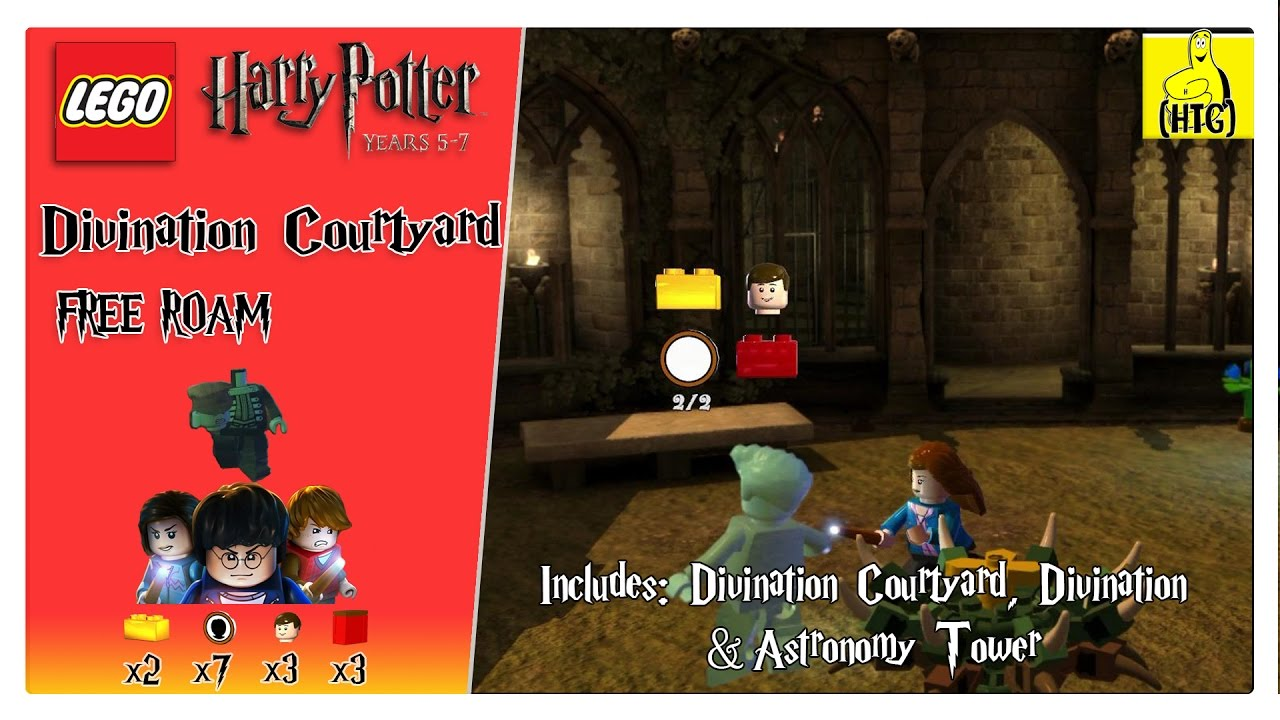 Lego Harry Potter 5 7 Divination Courtyard Free Roam All Collectibles Htg Youtube