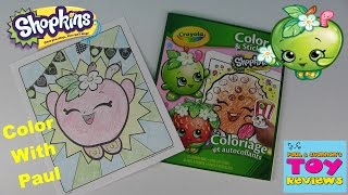 Shopkins Crayola Coloring Page   Apple Blossom DIY   Color With Paul   PSToyReviews