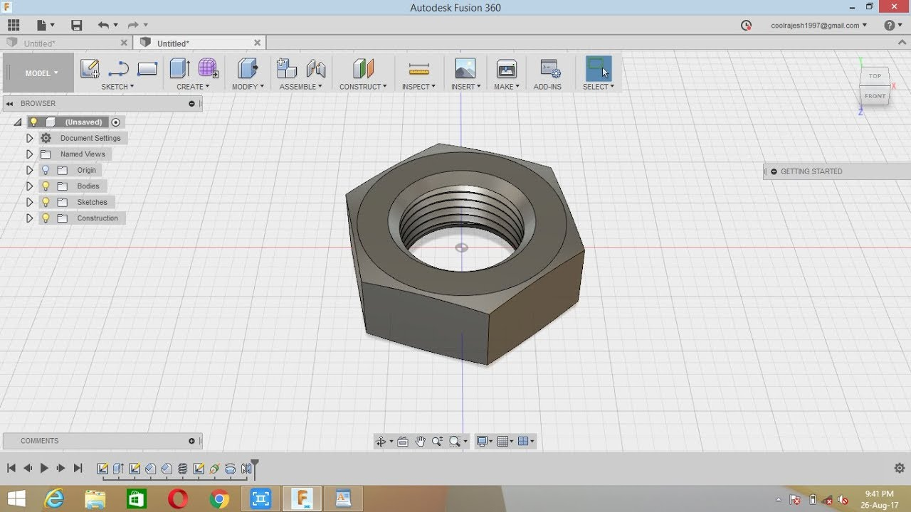 fusion 360 how to delete thread