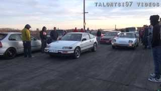 turbo crx vs n a rx 7 1 8m drag races