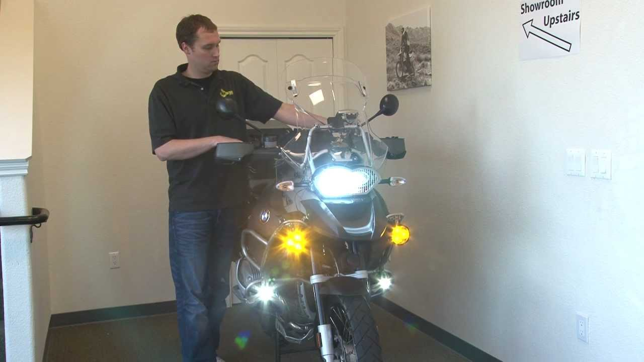 Clearwater Krista LED Auxiliary Lights for BMW R1200GSA and R1200GS by Adventure Designs  YouTube