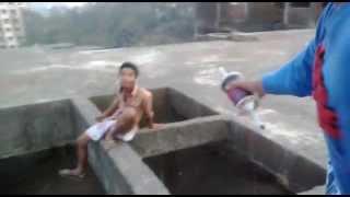 Gangs of narsobawadi - stunt at kali building