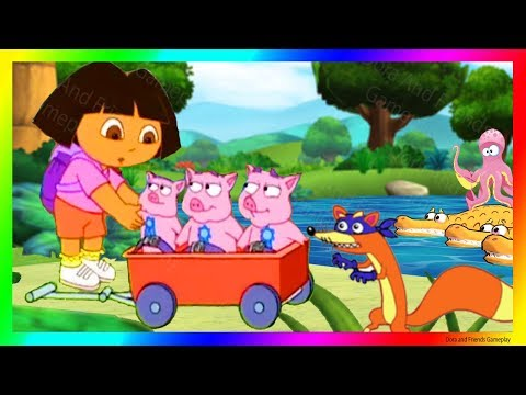 Dora And Friends The Explorer Cartoon 👙 Saves The Three Little Piggies With Dora Buji In Tamil 🐷