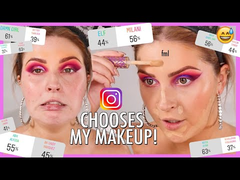 Instagram Followers PICK MY MAKEUP! 😓 this was so stressful thumbnail